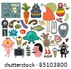 Mix of different vector images and icons. vol.29 - stock vector