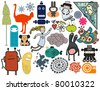 Mix of different vector images. vol.9 - stock vector