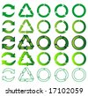 mix of recycle icons - stock vector