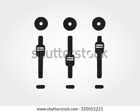 mix sound - stock vector
