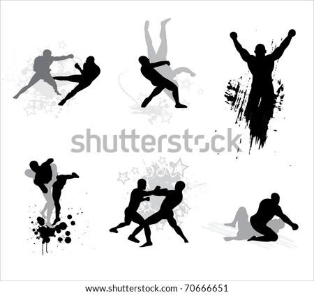 Mixed Martial Arts - stock vector