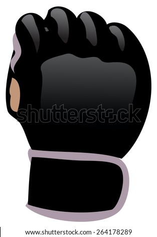 MMA Glove, Vector Illustration isolated on White Background.  - stock vector