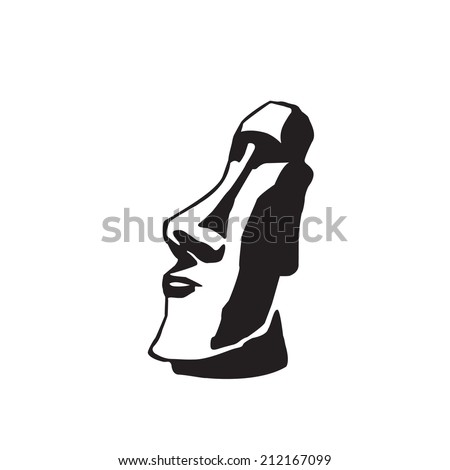 moai - stock vector
