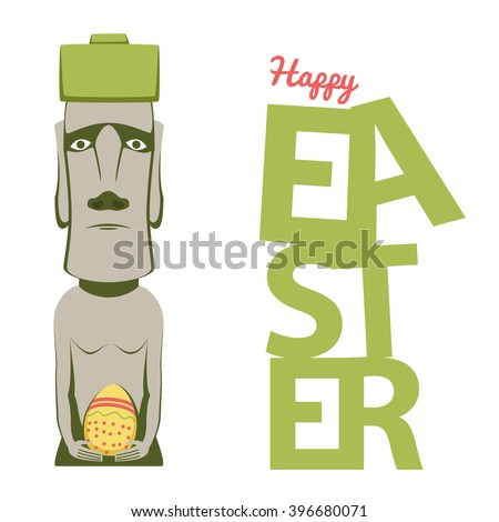 Easter Island Infographic Moai On Easter Stock Vector 349681523 ...