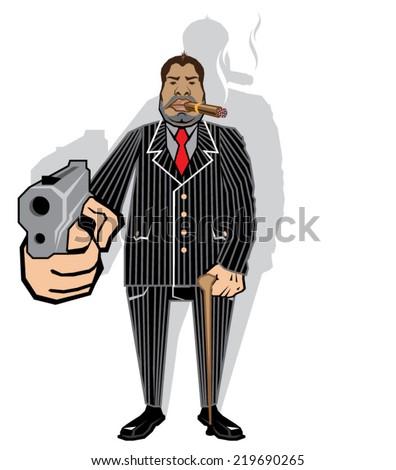 Mob Boss - stock vector
