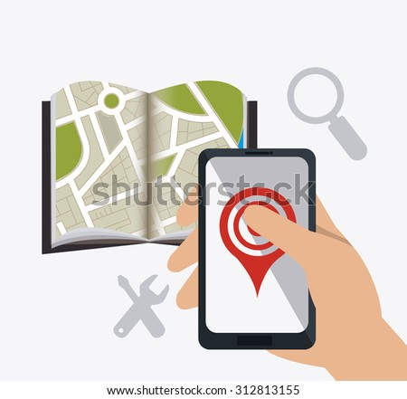 Mobile app design, vector illustration eps 10.