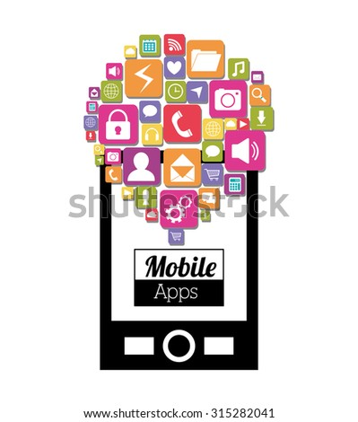 Mobile applications shop entertainment, vector illustration eps 10