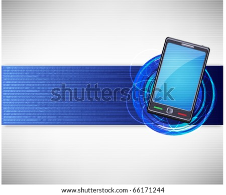 mobile background - stock vector