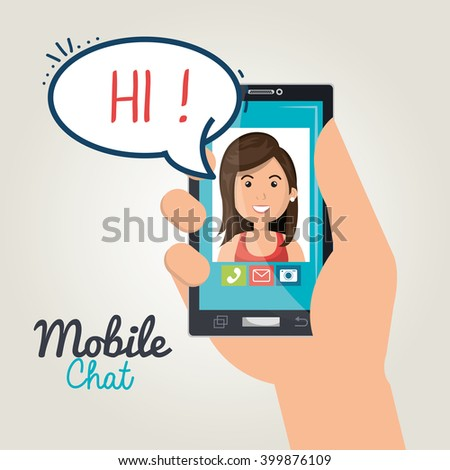 mobile chat design  - stock vector