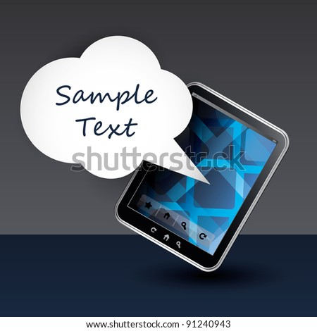 Mobile Communication on Phone or Tablet PC - Background Template Design Concept