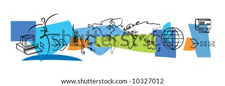 Mobile communications - stock vector