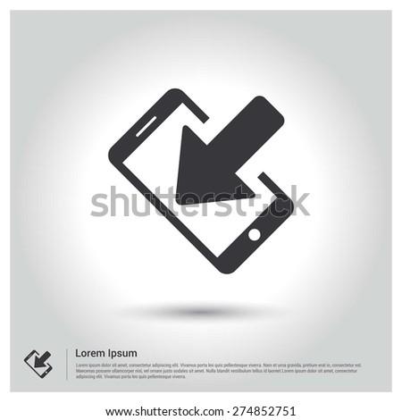 mobile data download Concept icon - stock vector