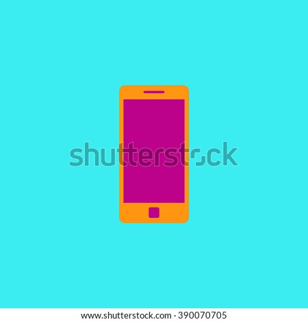 Mobile gadget. Flat simple modern illustration pictogram. Collection concept icon for infographic project and logo - stock vector