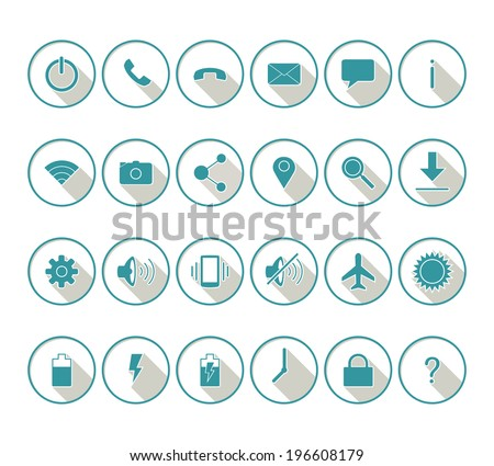 Mobile icon set - stock vector