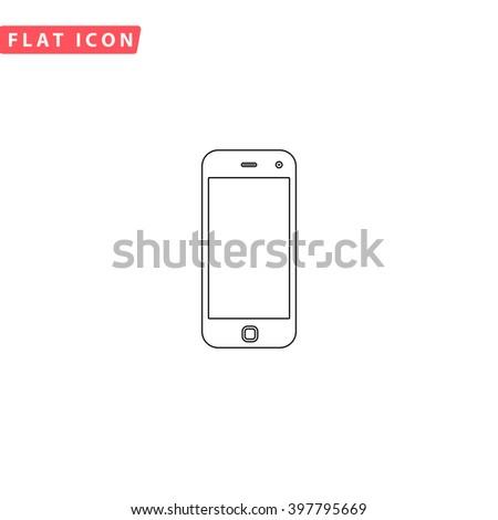 Mobile Icon Vector.  - stock vector