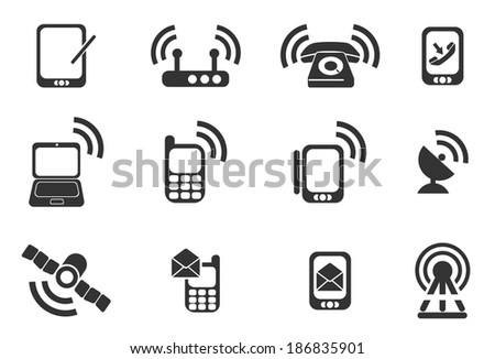 Mobile Icons - stock vector