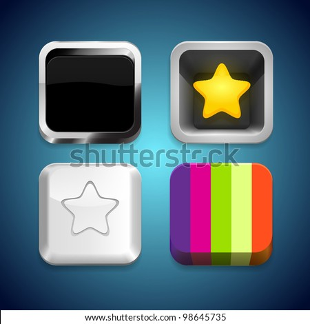 Mobile icons template set - stock vector