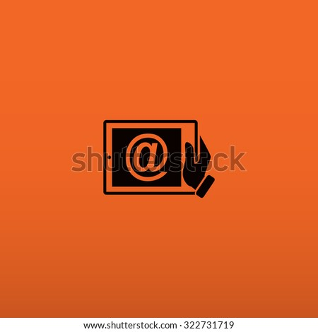 Mobile mail . icon. Vector Eps 10 - stock vector