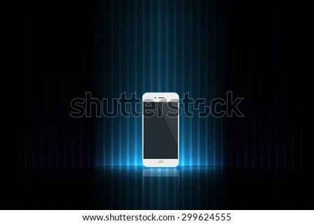 Mobile on the stage - stock vector