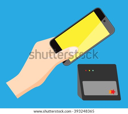 mobile pay vector