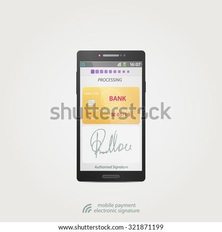 Electronic Signature Stock Royalty Free