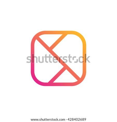 Mobile phone application icon. Mobile application technology symbol. Creative application icon design. - stock vector