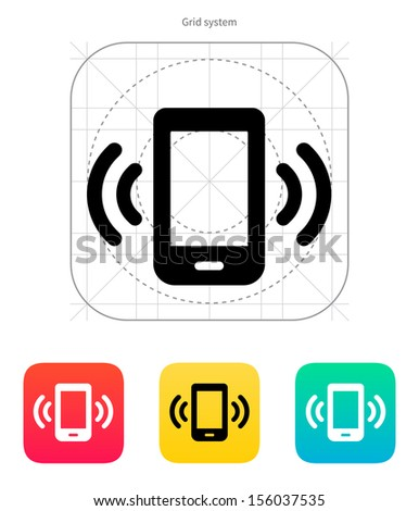 Mobile phone bell icon. Vector illustration. - stock vector