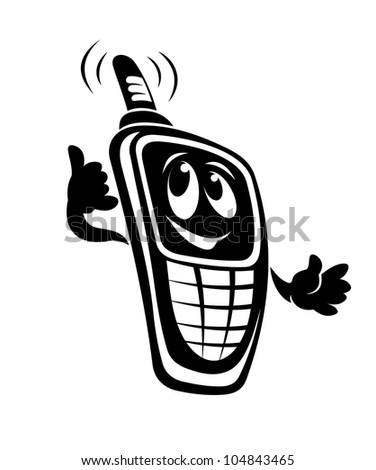 Mobile phone for telecommunication design. Vector illustration - stock vector