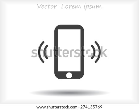 Mobile phone icon - stock vector