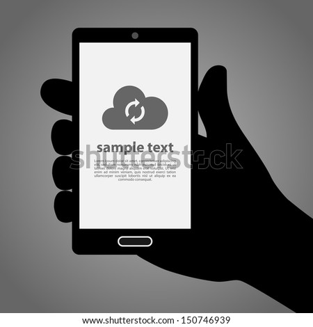 Mobile Phone in Hand Background Illustration