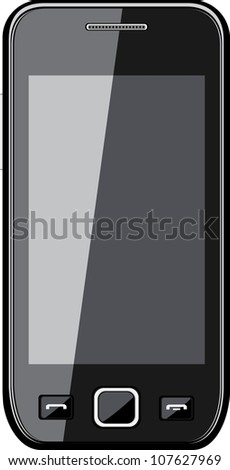 Mobile phone isolated on white - stock vector