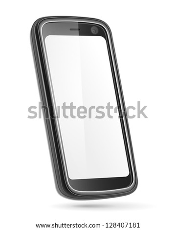 Mobile phone isolated on white. Vector - stock vector