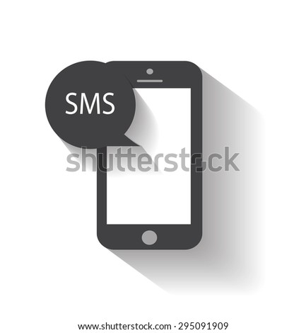 Mobile phone sms chat icon vector eps 10 / Mobile phone sms icon - stock vector