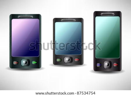 Mobile phone vector - stock vector