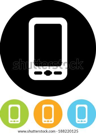 Mobile phone vector icon - stock vector