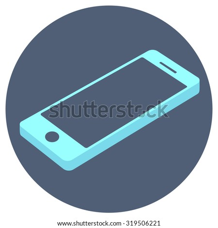 Mobile phone. Vector icon. EPS10 - stock vector