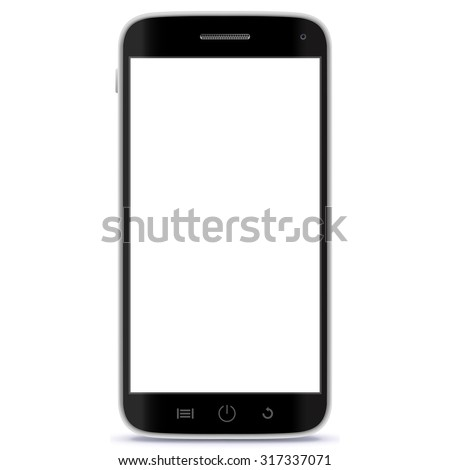 Mobile Phone Vector Illustration. - stock vector