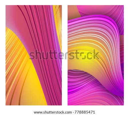 Mobile Phone Wallpaper Vector Sunny Screen Concept Editable Masked Template Abstract Striped Form