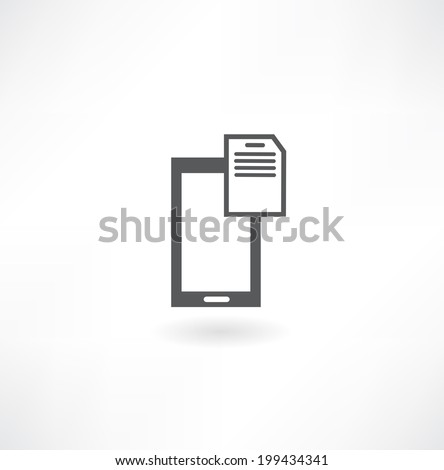 Mobile phone with code mechanism - stock vector