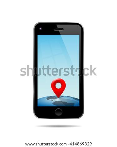smartphone map simple vector illustration map image vectorielle 403639267 shutterstock. Black Bedroom Furniture Sets. Home Design Ideas