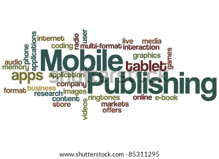 Mobile Publishing Word Cloud - stock vector