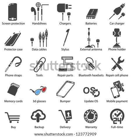 Mobile servise web - stock vector