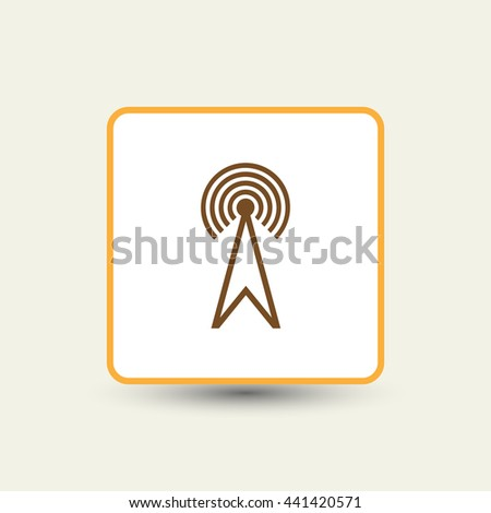 Mobile signal tower station. Telecommunication icon. Vector - stock vector