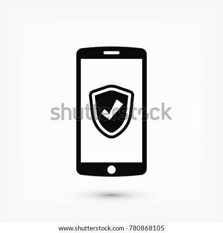 mobile smartphone icon, stock vector illustration flat design style