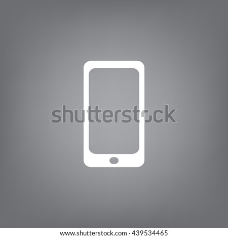 mobile smartphone icon, vector illustration. Flat design style - stock vector