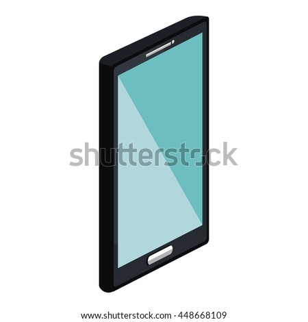 Mobile smartphone technology device, vector illustration graphic design.