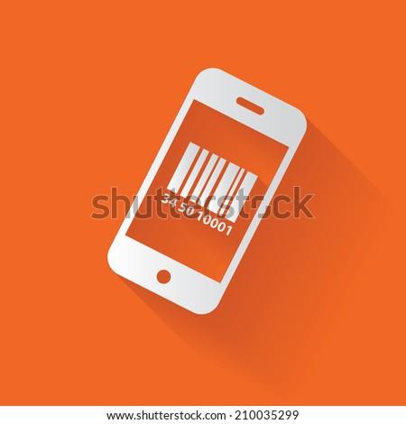 Mobile symbol,clean vector - stock vector