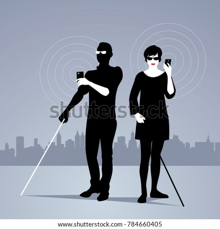 Blind Man Stock Images Royalty Free Images Amp Vectors