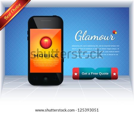 Mobile Template Vector Design - stock vector