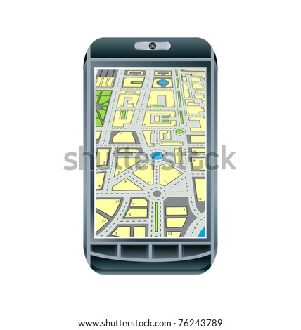 Mobile touch phone with GPS